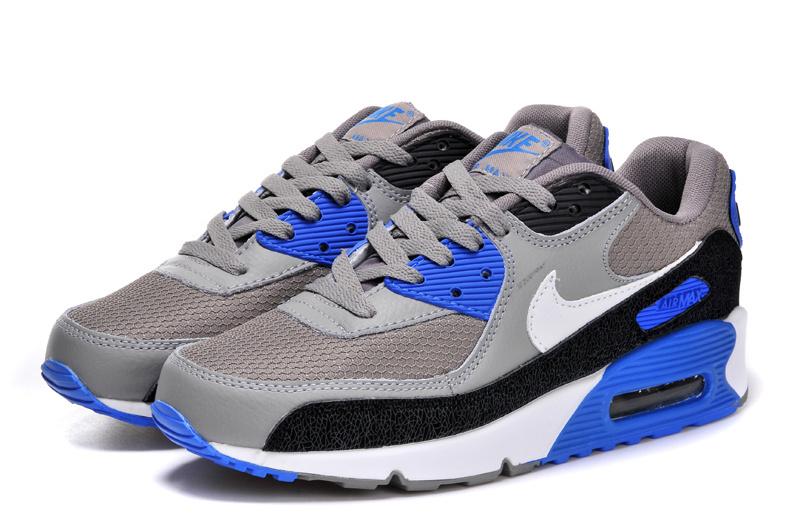 finest selection bdac4 82e87 Achat De ve Nike Air Max 90 Homme Bleu Chaussures Pas Cher Alainhemet
