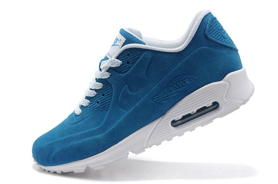 finest selection 34fb7 41986 Achat De ve Nike Air Max 90 Homme Bleu Chaussures Pas Cher Alainhemet