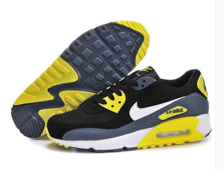 size 40 9d8b5 bb2e4 Achat De ve Nike Max Air Max Nike 90 Homme Noir Chaussures Pas Cher  Alainhemet